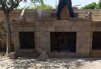 Backyard Fire Pit Repair | S&P Hardscape Remodeling Los Angeles | Malibu