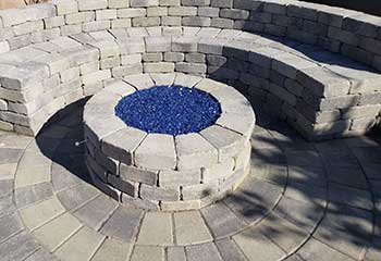 Outdoor Fireplace | Silver Triangle | S&P Hardscape Remodeling