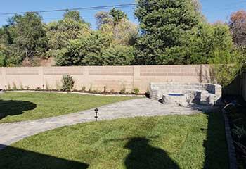 Retaining Wall Paver Replacement | S&P Hardscape Remodeling Los Angeles | Simi Valley