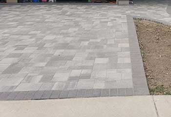 Stamped Concrete Driveway Installation | S&P Hardscape Remodeling Los Angeles | Mid-City West